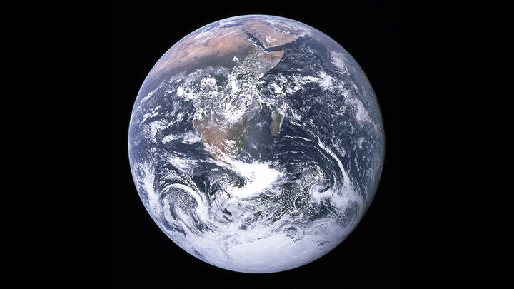 "The ""blue marble"" image of Earth as seen from Apollo 17"