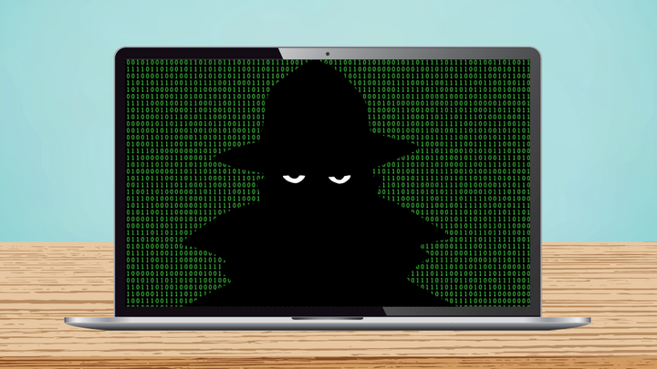 An illustration of a spy on a computer screen