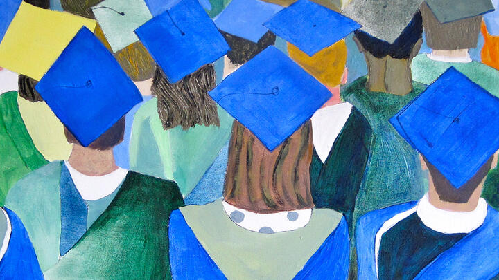 "Detail from ""Graduates"" by Judy Pokras"