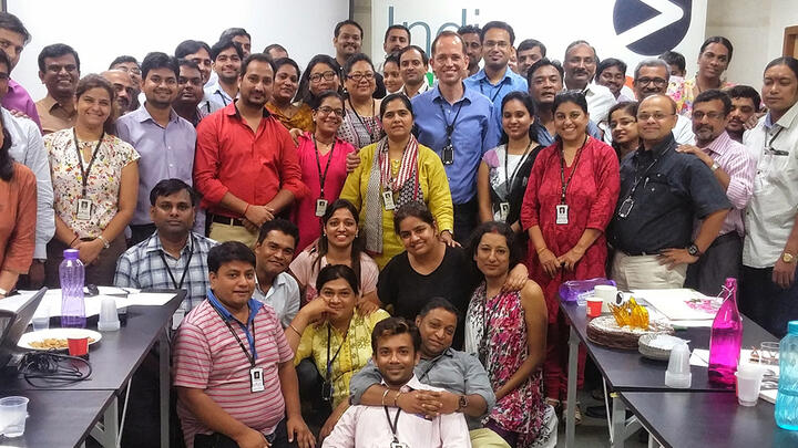 James Robertson and his team at the India HIV/AIDS Alliance