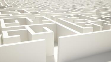Illustration of a maze