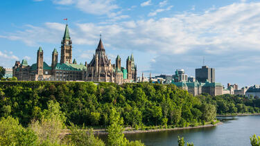 Ottawa's Parliament Centre Block. Photo: Michael Runkel/Alamy Stock Photo.