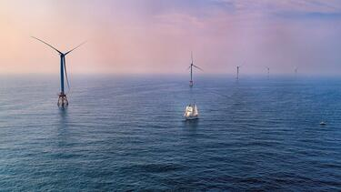 A wind farm off Rhode Island's Block Island. Photo: Deepwater Wind.