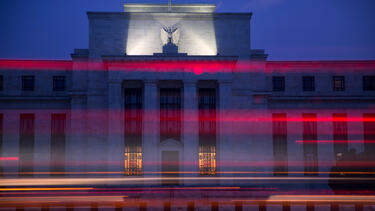 The Marriner S. Eccles Federal Reserve building in Washington, D.C. Photo: Andrew Harrer/Bloomberg via Getty Images.