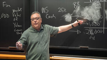 Prof. Rick Antle teaching