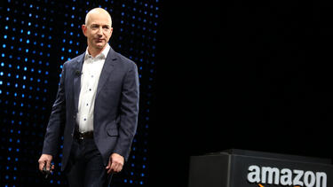 Jeff Bezos at a press conference in 2012. Photo: J. Emilio Flores/Corbis via Getty Images.