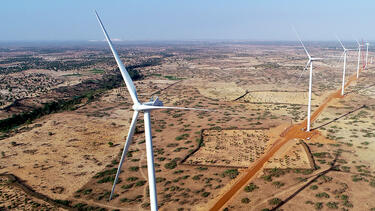 The Taiba N'Diaye Wind Power Station in Senegal, a project underwritten by the World Bank's Multilateral Investment Guarantee Agency. Photo: MIGA.