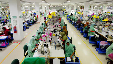 A garment factory in Bangladesh