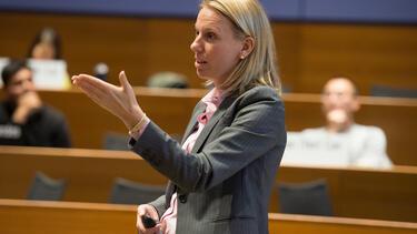 Marissa King teaching in a classroom