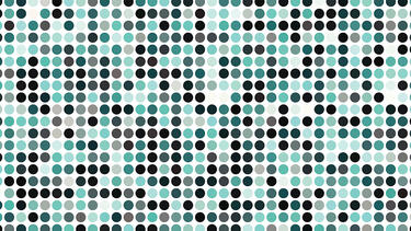 A pattern of dots of different colors