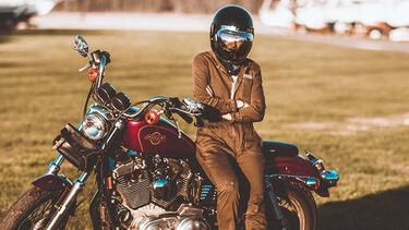Harley-Davidson motorcycle and rider