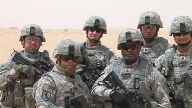 Col. Rich Morales (right) with members of his battalion in Iraq. Photo courtesy of Rich Morales.