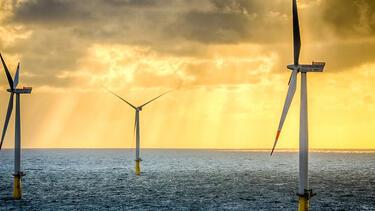 Siemens Wind Turbines off the coast