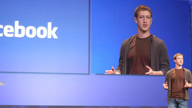Mark Zuckerberg at Facebook's 2008 F8 conference