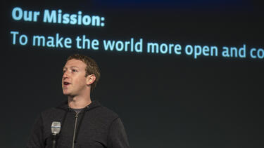 Facebook CEO Mark Zuckerberg at an event at the company's headquarters in Menlo Park, California, in 2013. Photo: David Paul Morris/Bloomberg via Getty Images.