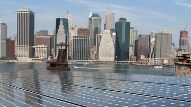 Solar panels in New York City