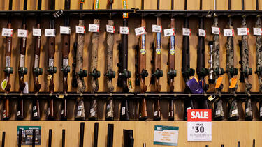 Guns for sale at Dick's Sporting Goods in 2012. Photo: Victor J. Blue/Bloomberg via Getty Images.