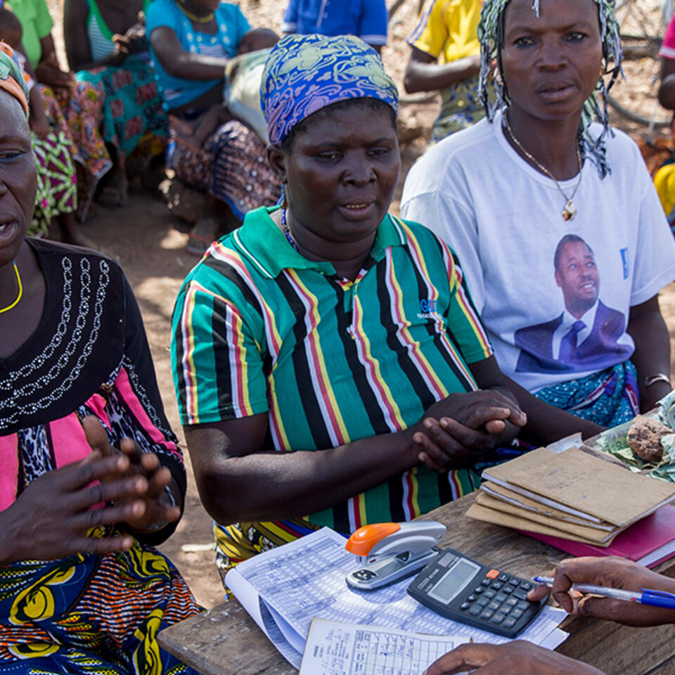 A microfinance meeting in Northern Togo. Photo: Godong/UIG via Getty Images.